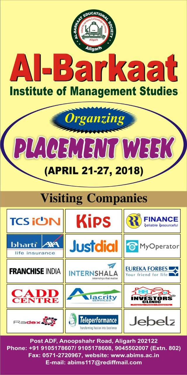 Placement Week