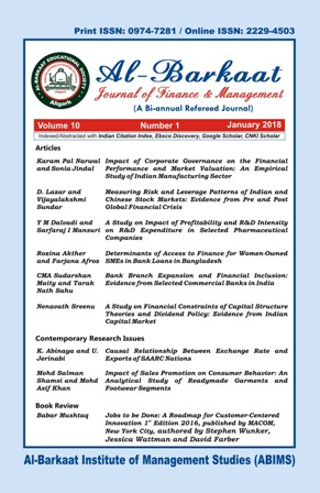 Al-Barkaat Journal of Finance & Management